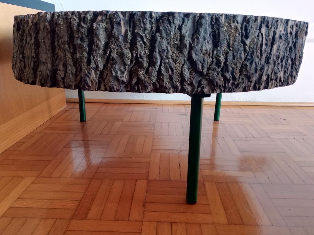low coffee table fir trunk