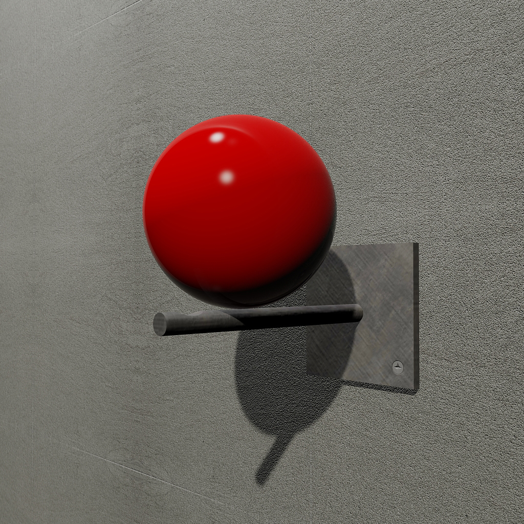 Red, with red lacquered sphere