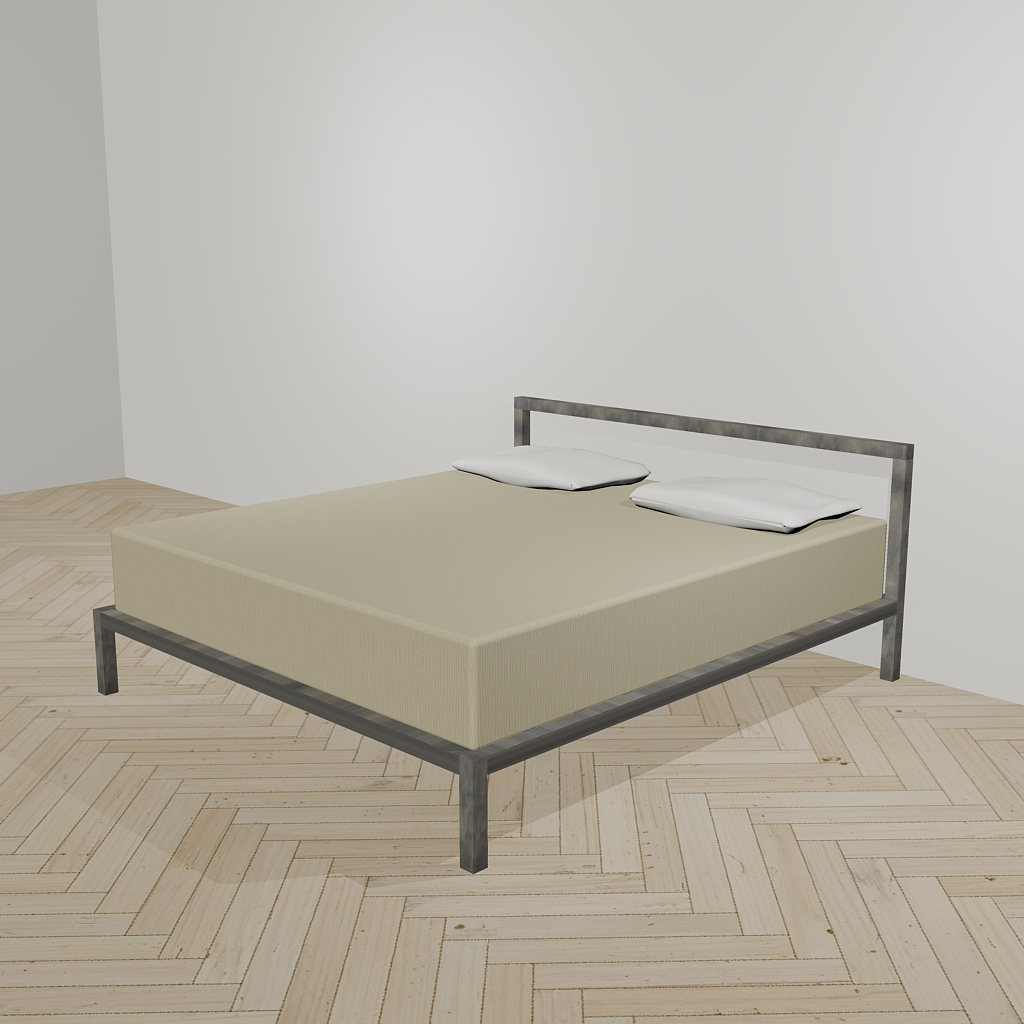 Bed minimal design Luca Perlini