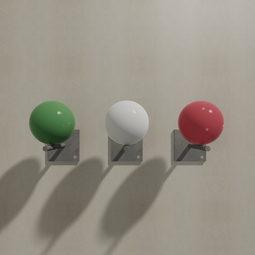Italy set, Equipoise coat rack in the colors of the Italian flag